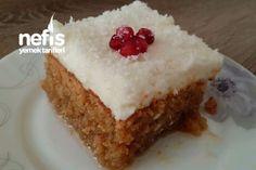 Kıbrıs Tatlısı Dubble Malzemeli (Kalabalık Misafirler İçin) Turkish Delight, Middle Eastern Recipes, Turkish Recipes, Vanilla Cake, Tart, Cheesecake, Deserts, Muffin, Food And Drink