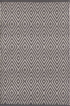 Dash & Albert   Diamond Graphite/Ivory Indoor/Outdoor Rug   Shine on, crazy diamond! This best-selling, eye-catching geometric area rug -- in washable, fade-resistant polypropylene -- is a shining gem.