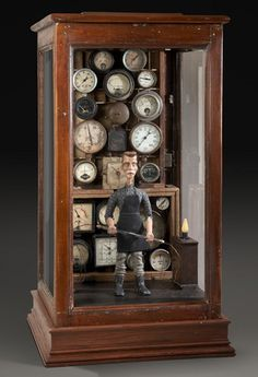Contrivance, 2008, automata, handmade electronic moving sculpture with found materials, AMAZING