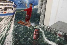 Absolutely Brilliant 3D Chalk Art   FB TroublemakersFB Troublemakers