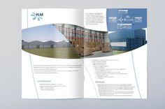 Diseño de brochure promocional del Parque Logístico Mercedes