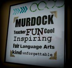 teacher appreciation | One year I did a creative slant on subway art for my son's teachers ...