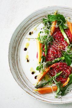 raw vegan beets ravioli salad