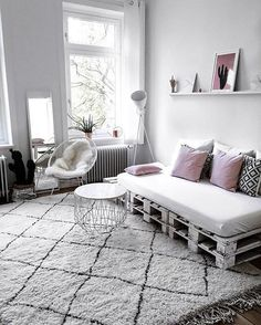 Repurposed wooden couch