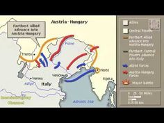 ITALIAN FRONT FIRST WORLD WAR HISTORY ANIMATION ON A MAP
