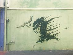 Graffiti of #bird and #dragon in the centre of #Willemstad #Curacao.