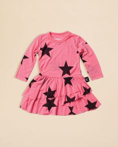 Nununu Infant Girls' Star Print Dress - Sizes 0/6-18/24 Months