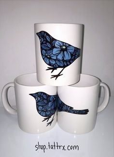 "| Get our ""Love Bird"" mug by tattooer Yanina Viland..."