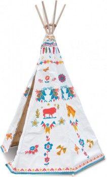 Kinderspielhaus Indianerzelt Tipi aus Stoff mit wunderschönem Fantasie Print, Natahlie Lété für vilac