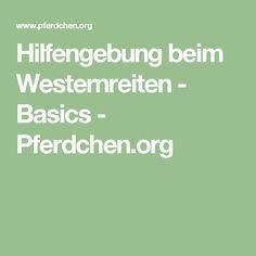 Hilfengebung beim Westernreiten - Basics - Pferdchen.org