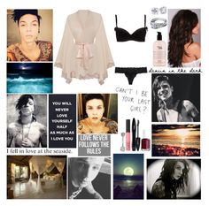 """""""❤ Fading in, fading out. On the edge of paradise. Every inch of your skin is a holy grail I've got to find. Only you can set my heart on fire, on fire ❤"""" by blueknight ❤ liked on Polyvore featuring Pablo, H&M, Blue Nile, Agent Provocateur, STELLA McCARTNEY, Lancôme, NARS Cosmetics, Essie, Verragio and philosophy"""