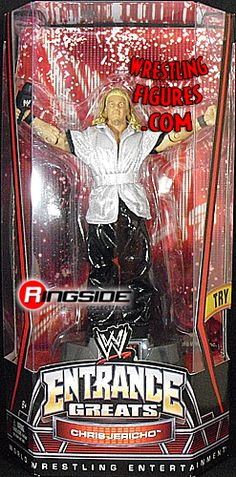 RINGSIDE COLLECTIBLES WWE Toys, Wrestling Action Figures, Jakks Pacific, Classic Superstars Action F: CHRIS JERICHOENTRANCE GREATSWWE Toy Wrestling Action Figure