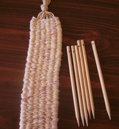 SALE Weaving Sticks for Scarves edgings Belts by busyneedlesatwork, $10.75