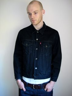 Levis Black Denim Jacket