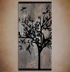 Reclaimed Barn Wood Wall Art Rustic Painting by TKreclaimedART