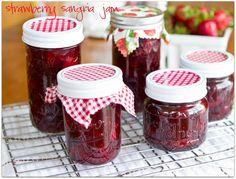 Chasing Some Blue Sky: Strawberry Sangria Jam