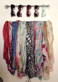 I love this idea for by the front door. Can add one more at level with the top with s hooks for light jackets too.