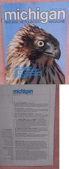 Magazines: Michigan Natural Resouces Magazine Apr=May. 1981, Dnr, Cooper Hawk Cover BUY IT NOW ONLY: $3.0