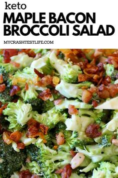 Low Carb Side Dishes, Veggie Side Dishes, Side Dish Recipes, Low Carb Recipes, Cooking Recipes, Healthy Recipes, Healthy Salads, Kitchen Recipes, Maple Bacon