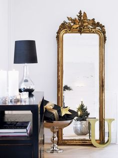 Unbelievable Useful Ideas: Interior Painting Trends Decor interior painting bedroom living rooms.Office Interior Painting Chalk Board interior painting tips wood trim.Interior Painting Tips White Doves. Golden Mirror, French Mirror, Toilette Design, Driftwood Mirror, Standing Mirror, Beautiful Mirrors, Interior Decorating, Interior Design, Decorating Ideas