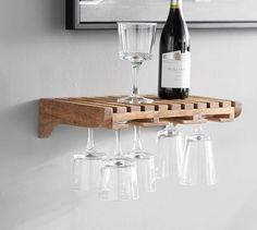 Harlow Wall-Mounted Wine Glass Storage #mypotterybarn #diningroom