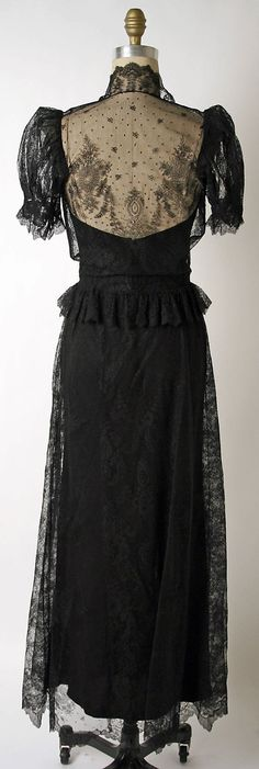 Dress, Dinner  House of Paquin  (French, 1891–1956)  Date: 1936–38 Culture: French Medium: silk, cotton