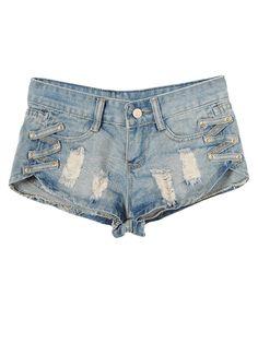 Ladies Belt Hole On Both Sides Denim Short Pants « Beauty Supply Shop Casual Shorts, Denim Shorts, Jumper Dress, Beauty Supply, Belts For Women, Lady, Pants, Shopping, Crossover