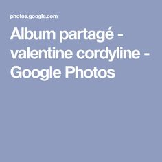Album partagé - valentine cordyline - Google Photos