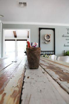 Joanna Gaines's Blog   HGTV Fixer Upper   Magnolia Homes...practical farm table