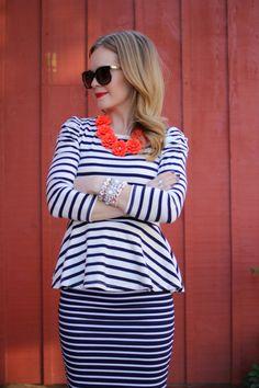 Stripes Hype - How to Wear StripesMakeover :: Christmas DanceBronze Eyeshadow Tutorial for Blue Eyes