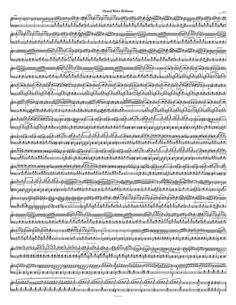 Free Piano Sheet Music – Waltz – Op. 18, No. 1 – Chopin - 1 Page Version