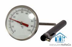 TERMOMETRU BUCATARIE, TERMOMETRU BUZUNAR  Accesorii bucatarii profesionale, import Olanda.  Dimensiuni:  Ø44,5x140 mm; Sonda prevazuta cu clip; Interval de masurare de la 0°C la 100°C; Memorie min/max si buton de on/off; Sonda din otel inoxidabil de 127 mm lungime; Usor de citit;