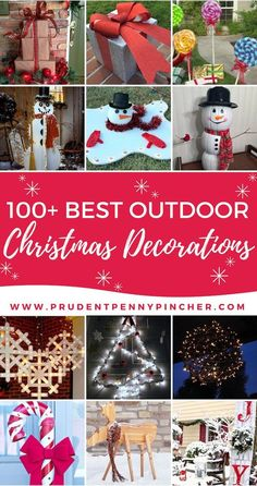 100 Best Outdoor DIY Christmas Decorations #Christmas #ChristmasDecorations #ChristmasDecor #ChristmasCrafts #DIY #Holiday #HolidayDecor