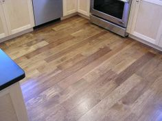 Light Hickory stain Kitchen Staining Wood, Home Improvement, Solid Wood, Floor Stain Colors, Wood Stain Colors, Floor Colors, Wood Floor Stain Colors, Staining Wood Floors, Hickory Flooring
