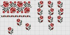 Gallery.ru / Фото #62 - .... - nastka2006 Cross Stitch Rose, Cross Stitch Borders, Cross Stitch Charts, Cross Stitching, Cross Stitch Patterns, Vintage Cross Stitches, Folk Embroidery, Needlework, Textiles