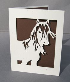 Cut Paper Mustang Horse Stallion Silhouette Art by arwendesigns, #hudsonvalley #hvnyteam