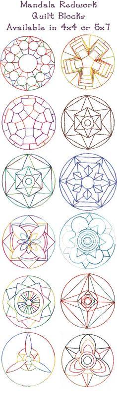 Mandala Quilt Blocks Set 3