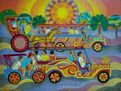 Crisanto Lodronio Byahe Filipino Art, Philippine Art, Jeepney, Artists Like, Pinoy, Artsy Fartsy, Painters, Philippines, Artworks