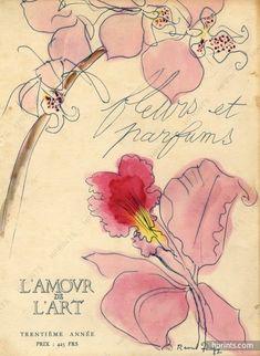 """Raoul Dufy 1949 """"Fleurs et Parfums"""" Iris"""