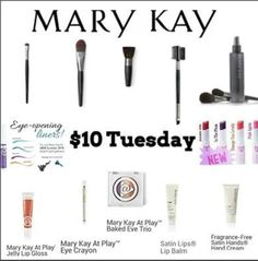 $10 Tuesday> Choose from these products. Want to TRY B4 U BUY? You can have a complimentary demo of all these products and MORE! Receive a special gift when you spend $40 or more!!! Message Me! Or find them on my MK website www.marykay.com/csmith55 (promo code: $T) #TenDollarTuesday #MaryKay #loveyourskin (Must have NO consultant or I'm already your consultant)