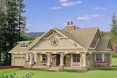 Stylish Stone Craftsman Cottage - 14601RK | Architectural Designs - House Plans