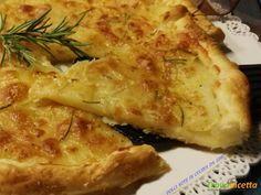 Torta rustica di patate al rosmarino #ricette #food #recipes