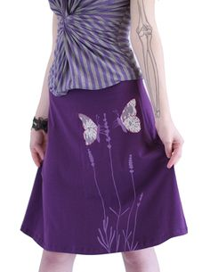 Zoe Chen Women's Cotton Knee Length A-line Skirt With Butterfly * This is an Amazon Affiliate link. Check out this great product.