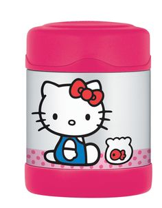 HK FUNtainer Food Jar, Thermos brand keeps hots warm for 5 hours, keeps colds cool for 7 hours.