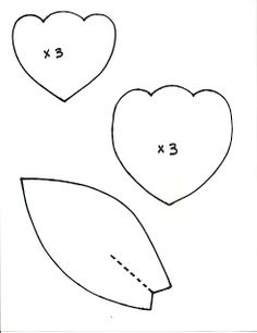 Printable paper flower template.