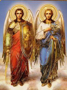 ARCANGEL MIGUEL Y GABRIEL   Arhangel-Mihail-ikona.jpg (360×480)