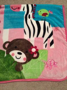 Monogram blanket, so cute