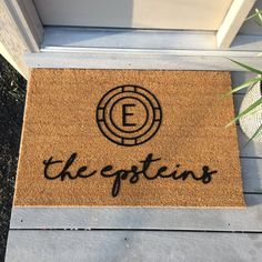 Monogram Doormats  Personalized by subculturegiftshop on Etsy