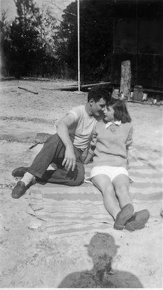 Dad and Girlfriend, Pop's Shadow by joelgllespie1957.