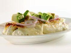 Creamy Fish Enchiladas Recipe : Rachael Ray : Food Network - FoodNetwork.com